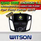 Carro DVD GPS do Android 5.1 de Witson para Ford Focus 2015 com sustentação do Internet DVR da ROM WiFi 3G do chipset 1080P 16g (A5556)