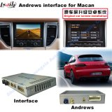 Interfaccia del sistema Android di percorso dell'automobile per Porsche-Macan, Caienna, Panamera; Aggiornare il percorso di tocco, WiFi, BT, Mirrorlink, HD 1080P, programma di Google