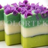 Glimmer und natürliche Farbstoffe für die Seifen-Herstellung