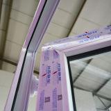 Vidrio blanco del doble de la puerta del marco del perfil del color UPVC con la red Kz344