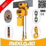 grua Chain elétrica do trole 1000kg manual com velocidade dobro