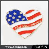 De in het groot Broche van de Speld van de Vlag van de V.S. van het Hart van het Email van de Douane van de Legering Zilveren