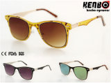 Neues Design Metal Sunglasses mit Flat Lenskm15238
