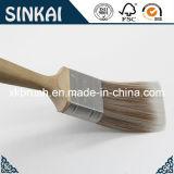Сплющенная щетка картины с ручкой твёрдой древесины