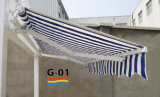 Retractable manuel Awning avec Pitch Adjustment System (S-01)