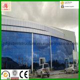 Pre-Проектированное Prefab светлое здание структурно стали с стеной занавеса стеклянной