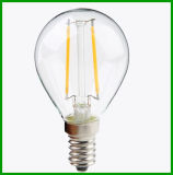 유럽 Hot Sell G45 E14 2W LED Filament Ball Bulb