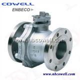 L'acier inoxydable 304/316 a modifié le robinet à tournant sphérique de bride