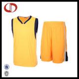 Uniformes de encargo 100% del baloncesto de la alta calidad del algodón para la hembra