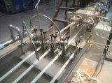 PVC端バンディングの1つの型、PVC端バンディングの押出機のための4つのストリップが付いている高い光沢のある木製の穀物の端の押出機