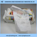 Nonwoven綿の顔ティッシュ、最もよい品質、工場価格の乾燥したワイプ