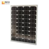 50W Monocrystalline 태양 전지판 소형 태양 모듈 단청 태양 전지