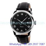 Relógio Top-Quality de quartzo do aço inoxidável, faixa 15134 do couro genuíno