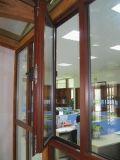Finestra di alluminio, finestra della stoffa per tendine, finestra di alluminio della stoffa per tendine con il profilo termicamente rotto