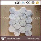 BathroomまたはWallのための熱いSale 3D Whitemarble Mosaic Tile