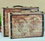 Хобот американского типа села ретро портативный деревянный античный