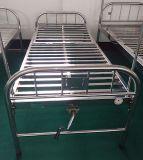 (A-119) Medizinisches Bett-- Alles Edelstahl-flache Krankenhaus-Bett