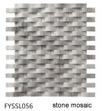 Mattonelle di mosaico di marmo grige irregolari per le mattonelle di pavimento della parete del materiale da costruzione della Camera