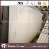 Laje artificial branca da pedra de quartzo da neve para a bancada