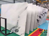 Слябы темного нефрита белые мраморный для плиток Countertop/настила/стены Clading
