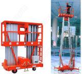 Doble Mástil de aleación de aluminio Plataforma elevadora de / aérea