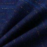 Tessuto disponibile del denim del cotone con il filetto dell'oro