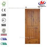 Porte non finie claire en bois solide de grange
