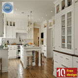 Heißer verkaufender weißer eleganter Küche-Schrank PVC-2016