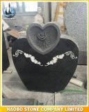 De hart Gestalte gegeven BloemenGravure van de Grafsteen