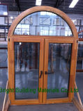 Ventana de madera del marco del revestimiento de aluminio estándar