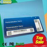 Projetar o cartão de Tag da lealdade do cartão de sociedade do VIP do código de barras do PVC QR