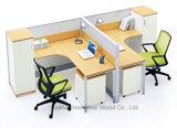 Самомоднейший офис 2 Seater l рабочая станция перегородки офиса стола формы (HF-J706)