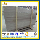 Zone blanche/Grey Wood Grain Marble pour Slab ou Countertop