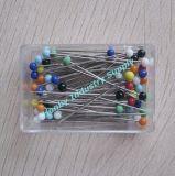 Geassorteerde Kleuren 32mm Spelden van de Bal van het Glas Hoofd Naaiende