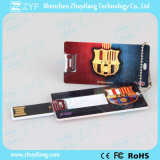 Unidad USB Mini 16 GB de tarjeta de crédito con el logotipo personalizado (ZYF1833)