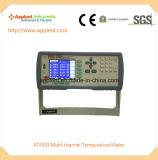プラチナ電気抵抗式温度計のデジタルLCD表示の温度計(AT4524)