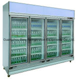 セリウムが付いている商業冷却装置2000リットルの直立したガラスドアの