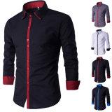 Camisas de alineada ocasional calientes del Mens del vendedor del otoño de la manera (A438)