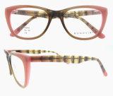 Frame 2016 ótico dos Eyeglasses da forma do olho de gato das mulheres do desenhador de moda