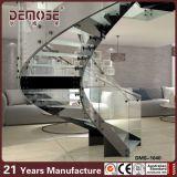 Diseños curvados pisada de cristal interna de la escalera (DMS-1040)