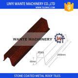 Tuile enduite de feuille de toit en métal de puce en pierre