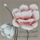 Peinture à l'huile fabriquée à la main à la maison populaire de fleur de la décoration 100% sur la toile