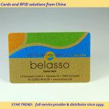 Блестящая карточка золота - карточка PVC с металлическим золотом