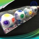 La novedad mágica esférica del juguete del cubo juega el aprendizaje del arco iris del rompecabezas del balompié y los juguetes educativos para los adultos de los niños