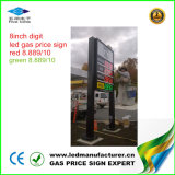 Muestra del cambiador del precio de la gasolina de 8 pulgadas LED (NL-TT20SF9-10-3R-White)