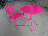 정원 가구 금속 테이블과 의자 세트