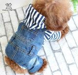 Tipos ropa del invierno y del resorte del vaquero de la ropa del animal doméstico para la ropa del perro