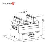 Двойник CNC центризуя тиски стенда для зажимать Workpieces
