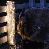 DEL actionnée par adaptateur 300 DEL micro sur le décor féerique d'usager de lumière étoilée de chaîne de caractères du rose DEL de câblage cuivre
