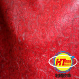 Cuero grabado sintetizado del PVC para los muebles del sofá